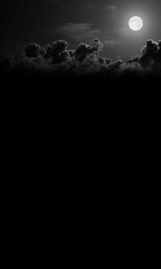 Обои на телефон черные, природа, пейзаж, луна, белые, nature landscape