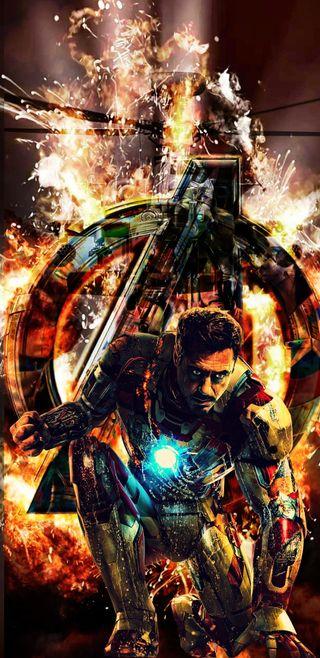 Обои на телефон железный человек, супергерои, мстители, железный, взрыв, vengadores, superheroe, man, explosive