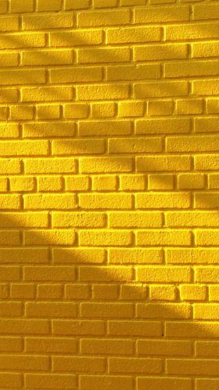 Обои на телефон узоры, стена, кирпичи, желтые
