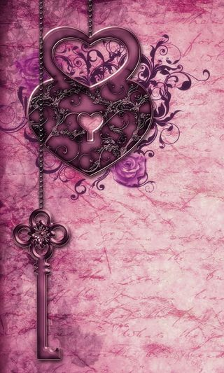 Обои на телефон art, love, любовь, арт, фиолетовые, сердце, романтика, винтаж, бумага, ключ
