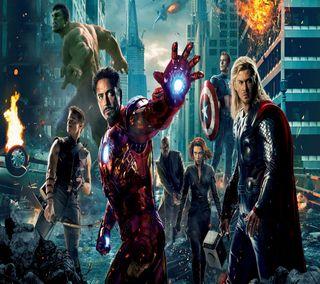 Обои на телефон железный человек, халк, тор, мстители, капитан, америка, avengers 2