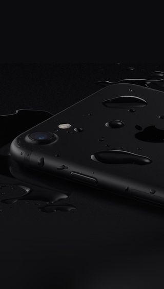 Обои на телефон айфон 7, эпл, черные, iphone7-black-apple, apple