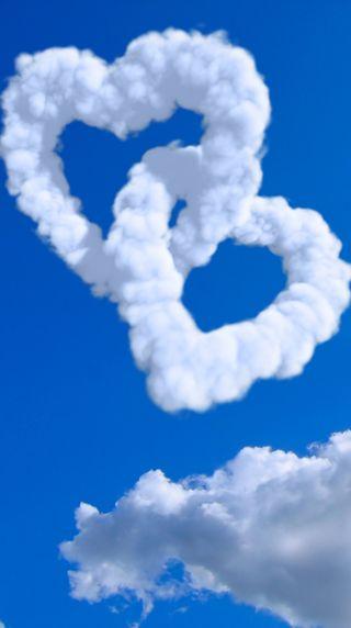 Обои на телефон сердце, романтика, облака, любовь, день, валентинка, love