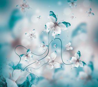 Обои на телефон цветочные, любовь, бабочки, love
