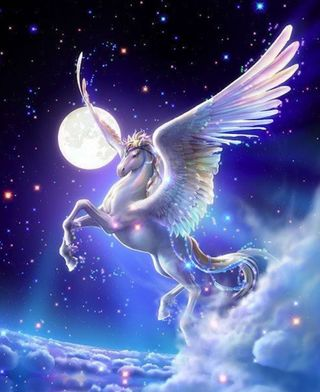 Обои на телефон лошадь, фантазия, pegasus