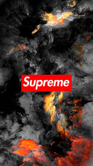 Обои на телефон шторм, логотипы, бренды, supreme