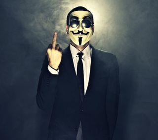 Обои на телефон палец, анонимус, новый, маска, крутые, suite, man, hide
