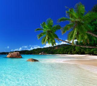 Обои на телефон ок, синие, рай, природа, пляж, небо, классные, вода, вид, beach hd