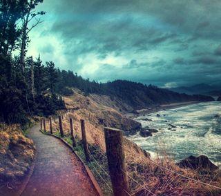 Обои на телефон удивительные, природа, прекрасные, пляж, дорога, beach road hd