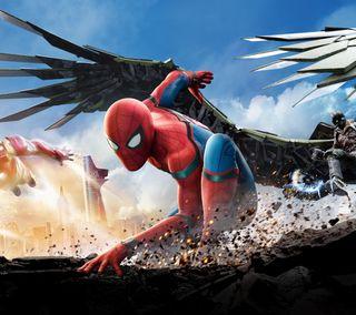 Обои на телефон эпичные, человек паук, железный человек, дом, spiderman 3, home coming