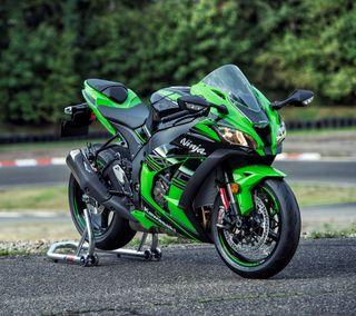Обои на телефон мотоциклы, черные, ниндзя, мотоцикл, кавасаки, зеленые