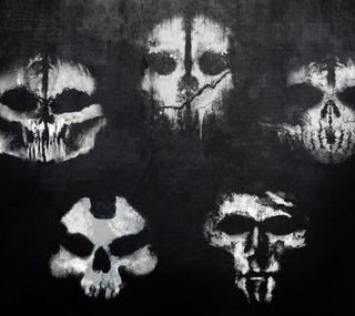Обои на телефон призрак, masks, cod ghosts, call of duty