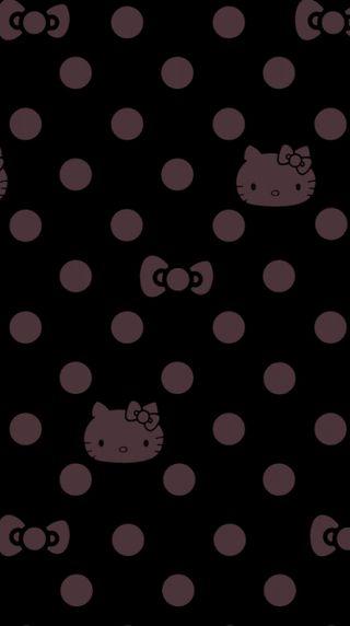 Обои на телефон черные, фиолетовые, привет, котята, абстрактные
