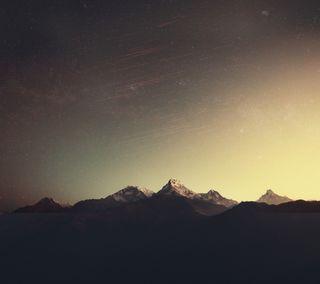 Обои на телефон звезда, горы, star mountains, plus, one, m9, htc