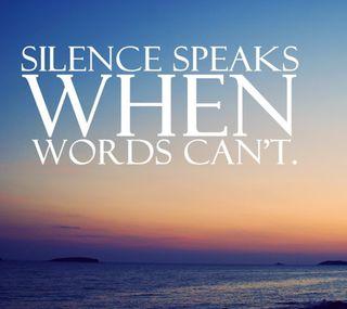 Обои на телефон тишина, слова, speaks, cant