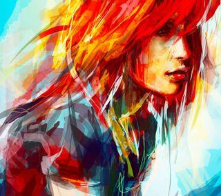 Обои на телефон картина, цветные, рисунки, приятные, крутые, красочные, девушки