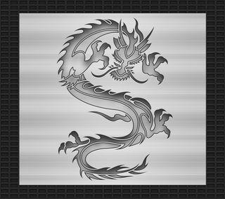 Обои на телефон племенные, черные, тату, стальные, серебряные, дракон, дизайн, арт, dragon, carved, art