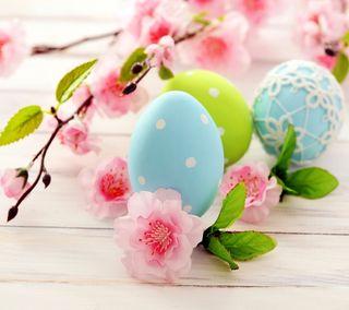Обои на телефон яйца, пасхальные, цветы, весна, delicate ester, delicate