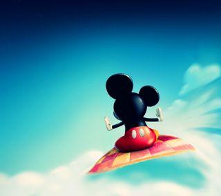 Обои на телефон полет, маус, облака, мультфильмы, микки, дисней, flying clouds, disney cartoon