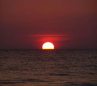 Обои на телефон шри, солнце, природа, пейзаж, ланка, закат, вода, sunset sri lanka