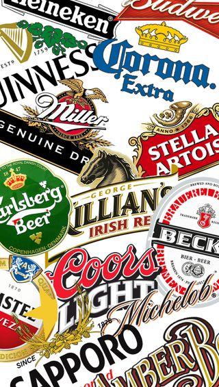 Обои на телефон коллаж, пиво, лучшие, бренды, белые, beers