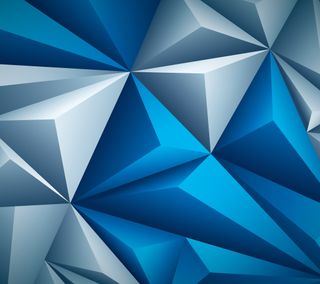 Обои на телефон многоугольник, цифровое, синие, белые, арт, абстрактные, hd, art, 3д, 3d