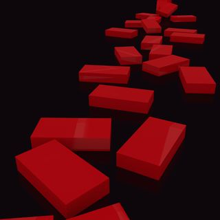 Обои на телефон кубы, черные, путь, красые, кирпичи, path of bricks, glossy, domino, blender, 3д, 3d