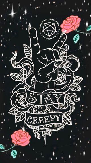 Обои на телефон жуткие, страшные, монстры, звезды, готы, stay creepy