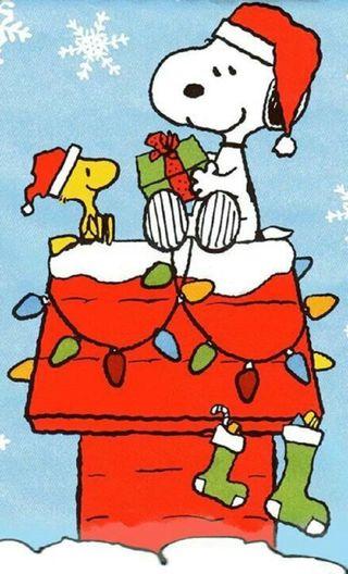 Обои на телефон снупи, счастливое, собаки, рождество