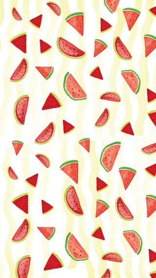 Обои на телефон фрукты, шаблон, watermelons