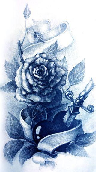 Обои на телефон панк, чернила, хипстер, татуировки, тату, розы, крутые, дизайн, арт, rose tattoo, art