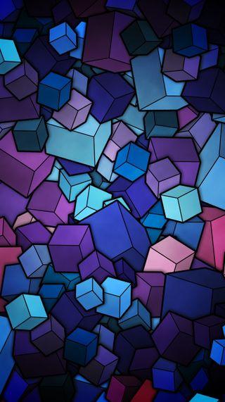 Обои на телефон кубы, стекло, векторные