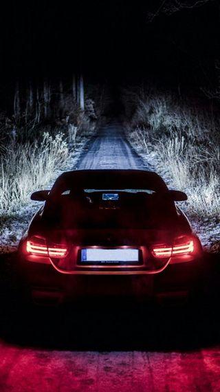 Обои на телефон темные, ночь, машины, м4, купе, зад, вид, бмв, автомобили, rear view, m power, f82, bmw