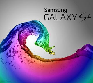 Обои на телефон цветные, самсунг, галактика, волна, samsung, s4, galaxy