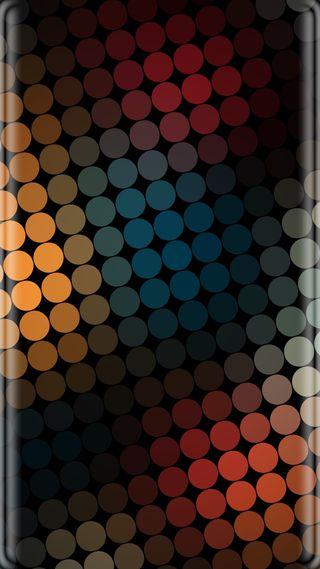 Обои на телефон точки, красочные, грани, абстрактные, s7