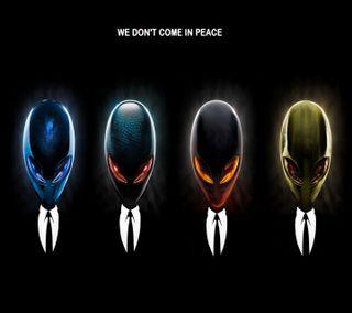 Обои на телефон alienware, черные, синие, красые, зеленые, череп, компьютер
