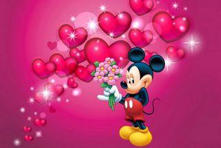 Обои на телефон день, ты, сердце, розовые, дисней, валентинки, miki valentines, lo, disney, 480x320px