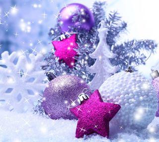 Обои на телефон украшения, украшение, снег, рождество, звезды, безделушки