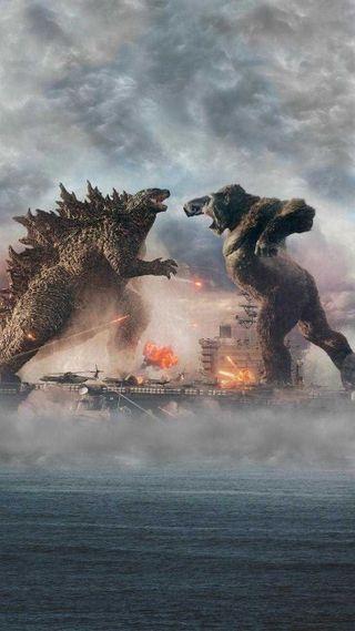 Обои на телефон фильмы, против, король, конг, годзилла, война, бой, godzilla vs kong, cine, 2021