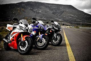 Обои на телефон superbikes, yamaha and honda, хонда, ямаха