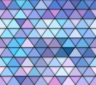 Обои на телефон геометрия, шаблон, треугольники, синие, арт, абстрактные, art