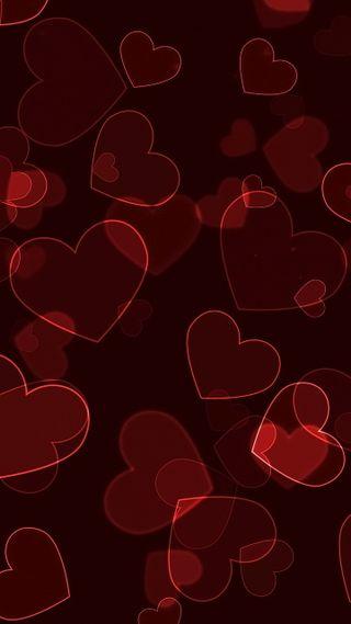 Обои на телефон боке, сердце, неоновые, любовь, love