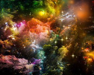Обои на телефон фантастические, небо, красочные, звезды, галактика, абстрактные, stars sky, galaxy