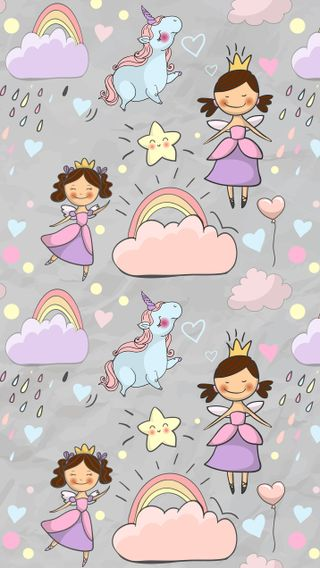 Обои на телефон единорог, девчачие, fairies and unicorns, fairies