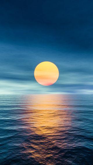 Обои на телефон волны, солнце, небо, sun set, h2o