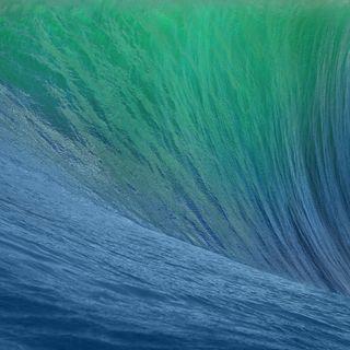 Обои на телефон эпл, синие, океан, море, волна, вода, retina, os x mavericks wave, mac, apple