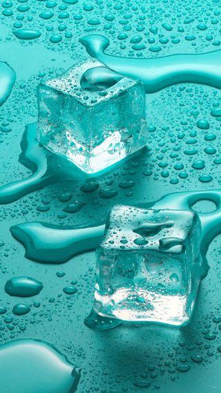 Обои на телефон холод, роса, мокрые, макро, лед, кубы, капли, вода