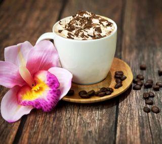 Обои на телефон чашка, цветы, кофе, зерна, время, cup, coffee time