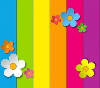 Обои на телефон радуга, цветы, красочные
