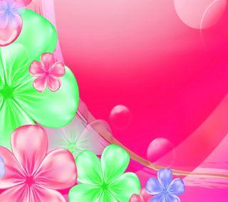 Обои на телефон цветочные, розовые, изображение